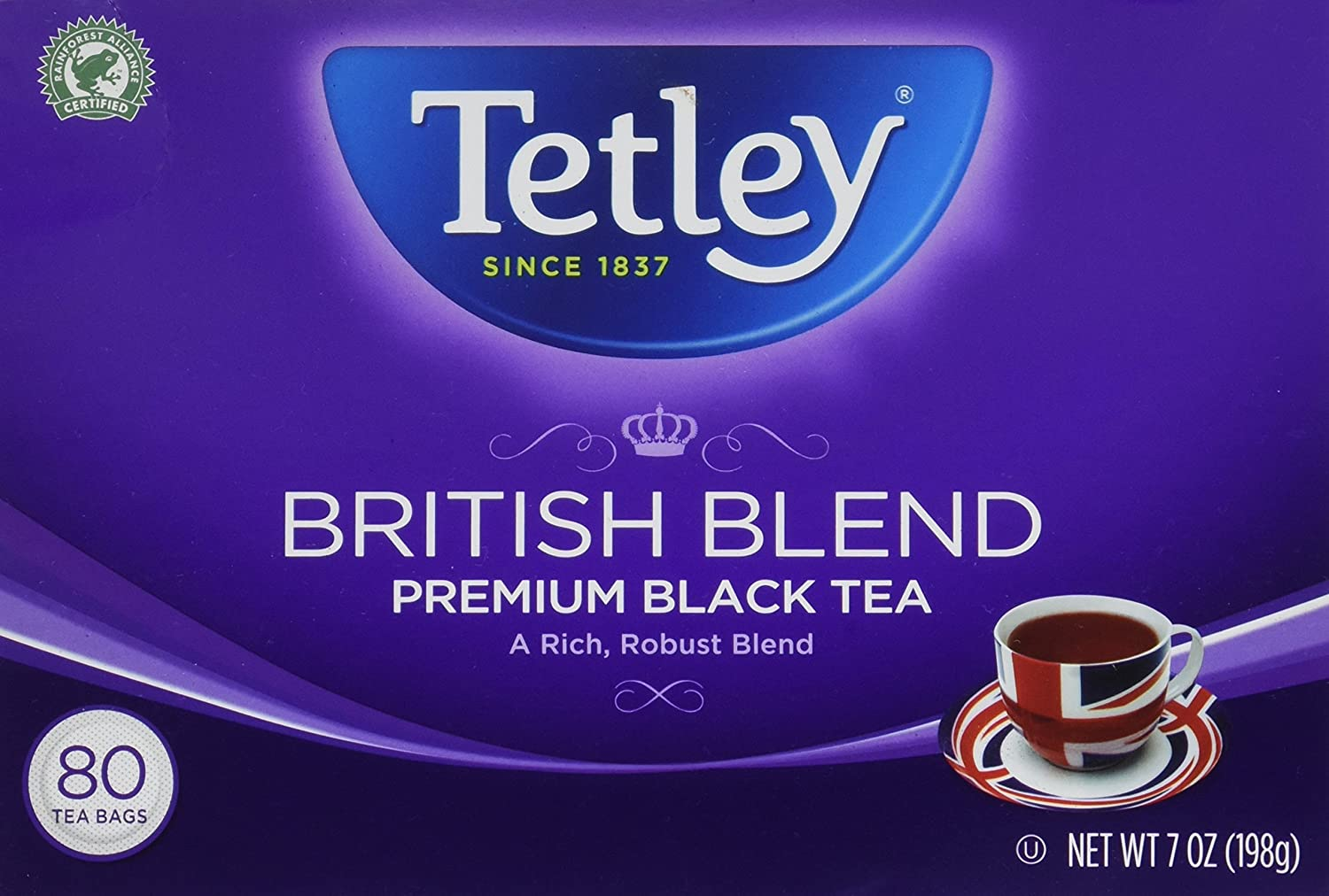 Tetley British Blend Premium Black, Tea Bags, 80 ct, 2 pk