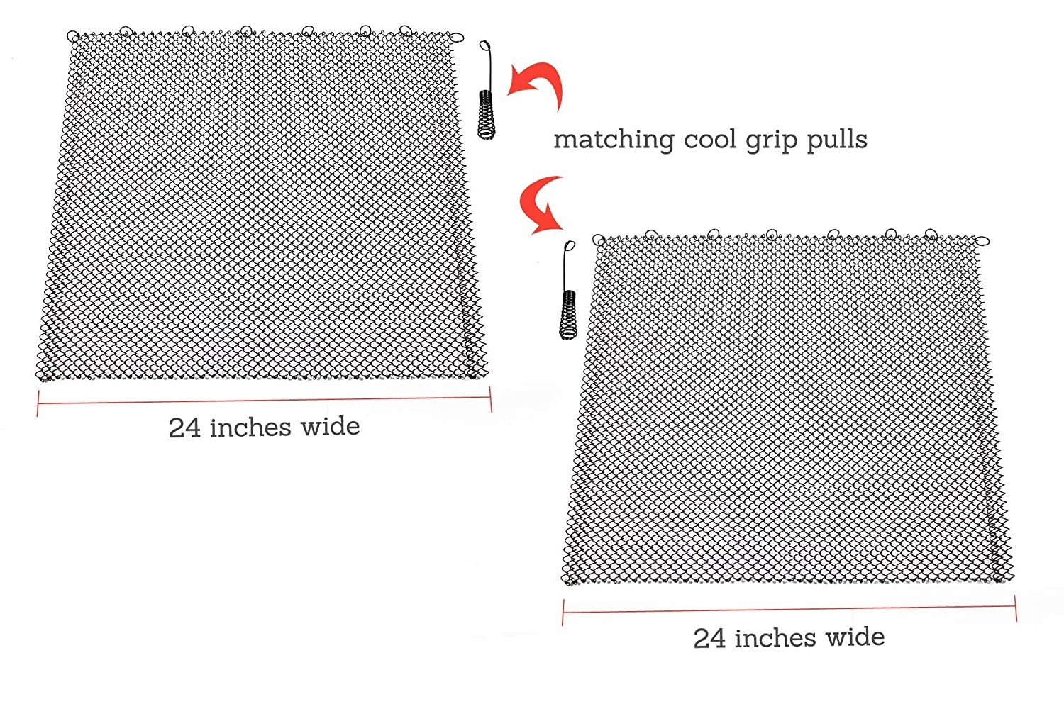 Enhance the Style of Your Fireplace with a Condar Mesh Screen the Fireplace Screen Experts 9-29 each 24 Wide 29 High each 24 Wide Fireplace Mesh Screen Curtain Includes 2 Panels