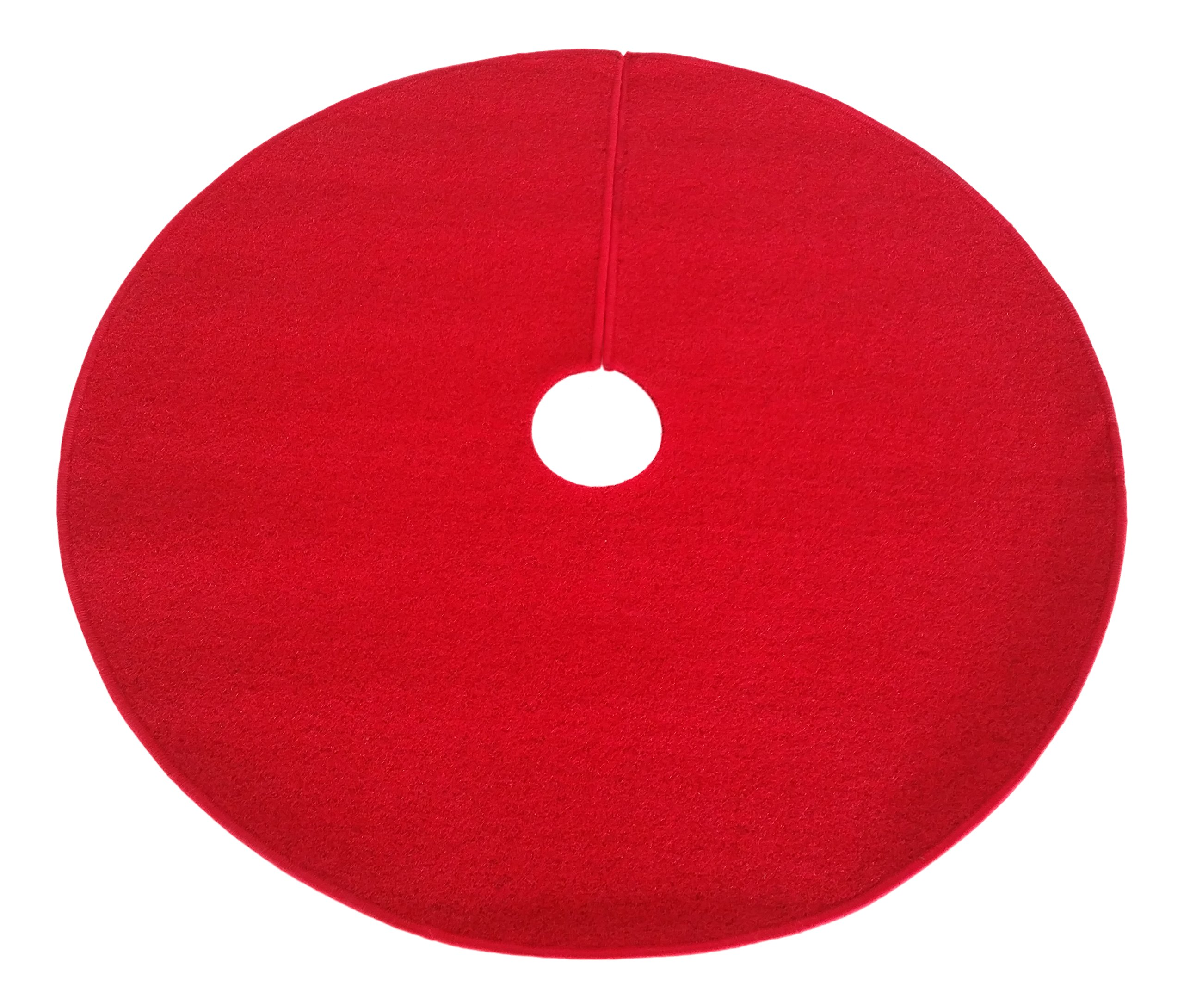 Zen Garden 612409798848 Artificial Grass Christmas Tree Skirt w/Anti-Slip Rubber Base (36'' Diameter) (Red)
