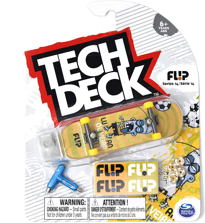 Mini Fingerboards TD Series 14 Flip Skateboards Luan Oliveira Notebook Complete Deck