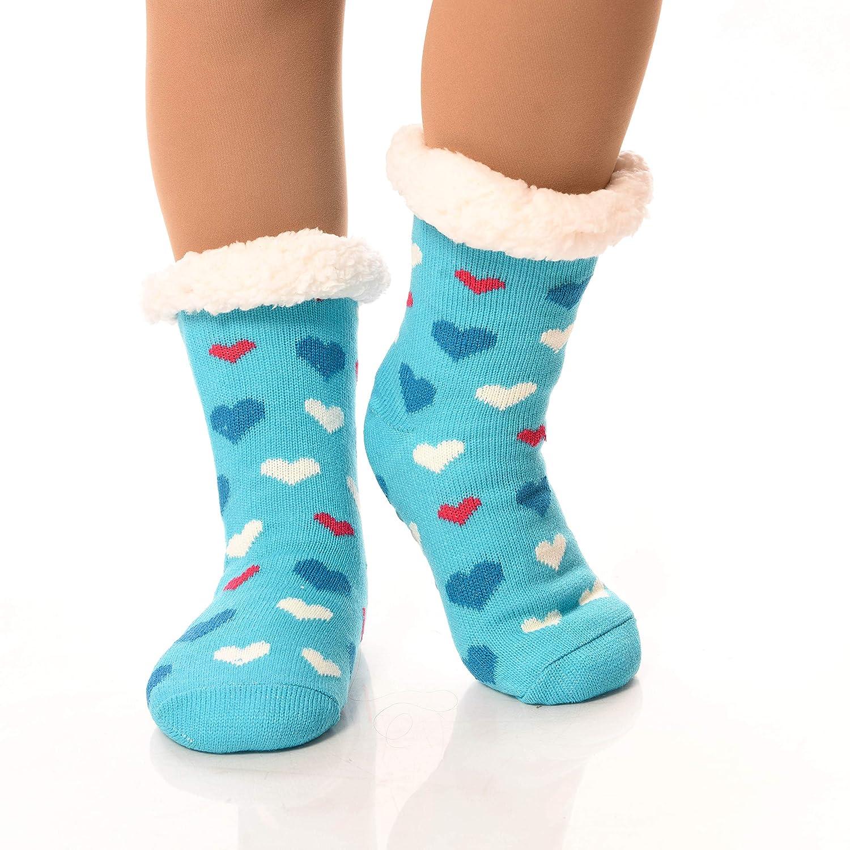 3deae27d3 DEBRA WEITZNER Slipper Socks for Women Men Gripper Cozy Socks Winter Socks  2 Pairs at Amazon Women s Clothing store