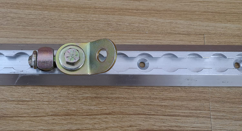 2 Pack Threaded Double Stud L-Track Rail Fitting Kit w//Swivel Plate