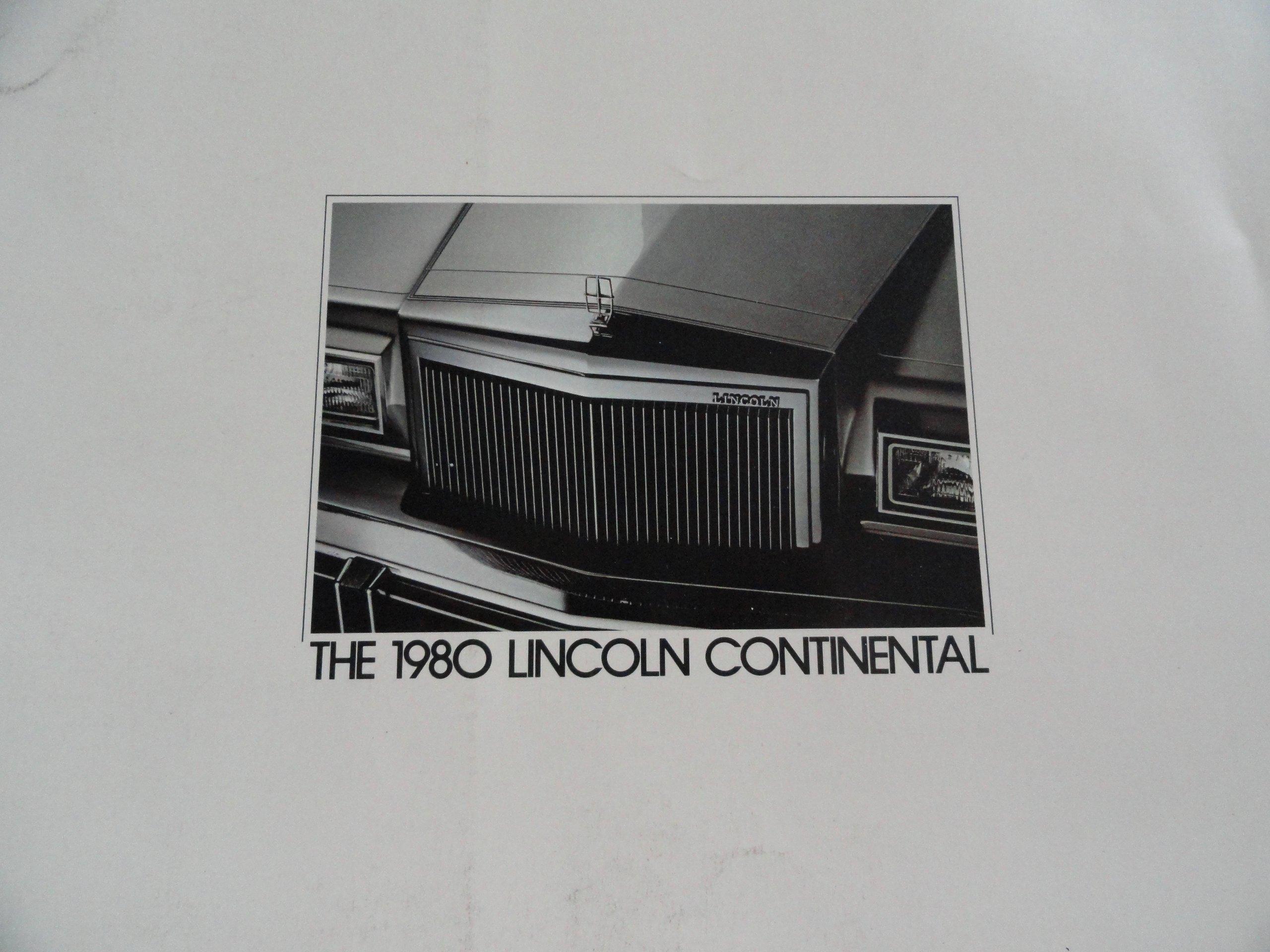 1980 Lincoln Continental Sales Brochure Lincoln Amazon Com Books