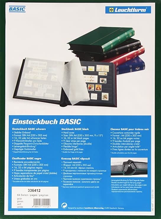 Lighthouse 16-Black Page Stamp Stockbook LS4//8 Black
