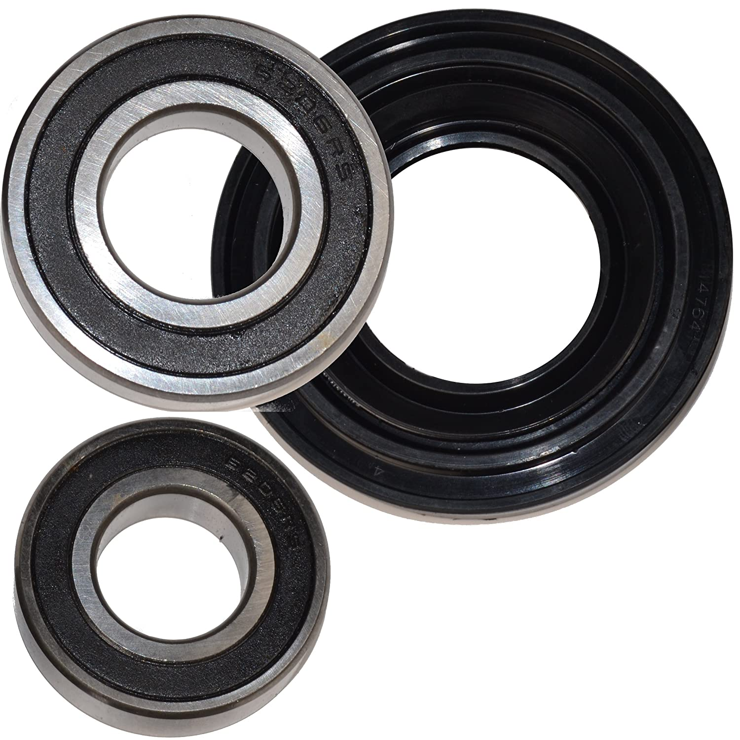 HQRP Bearing and Seal Kit for Whirlpool Duet Sport WFW8200TW01 WFW8300SW0 WFW8300SW01 WFW8300SW02 WFW8300SW03 WFW8300SW1 Front Load Washer Tub + HQRP Coaster