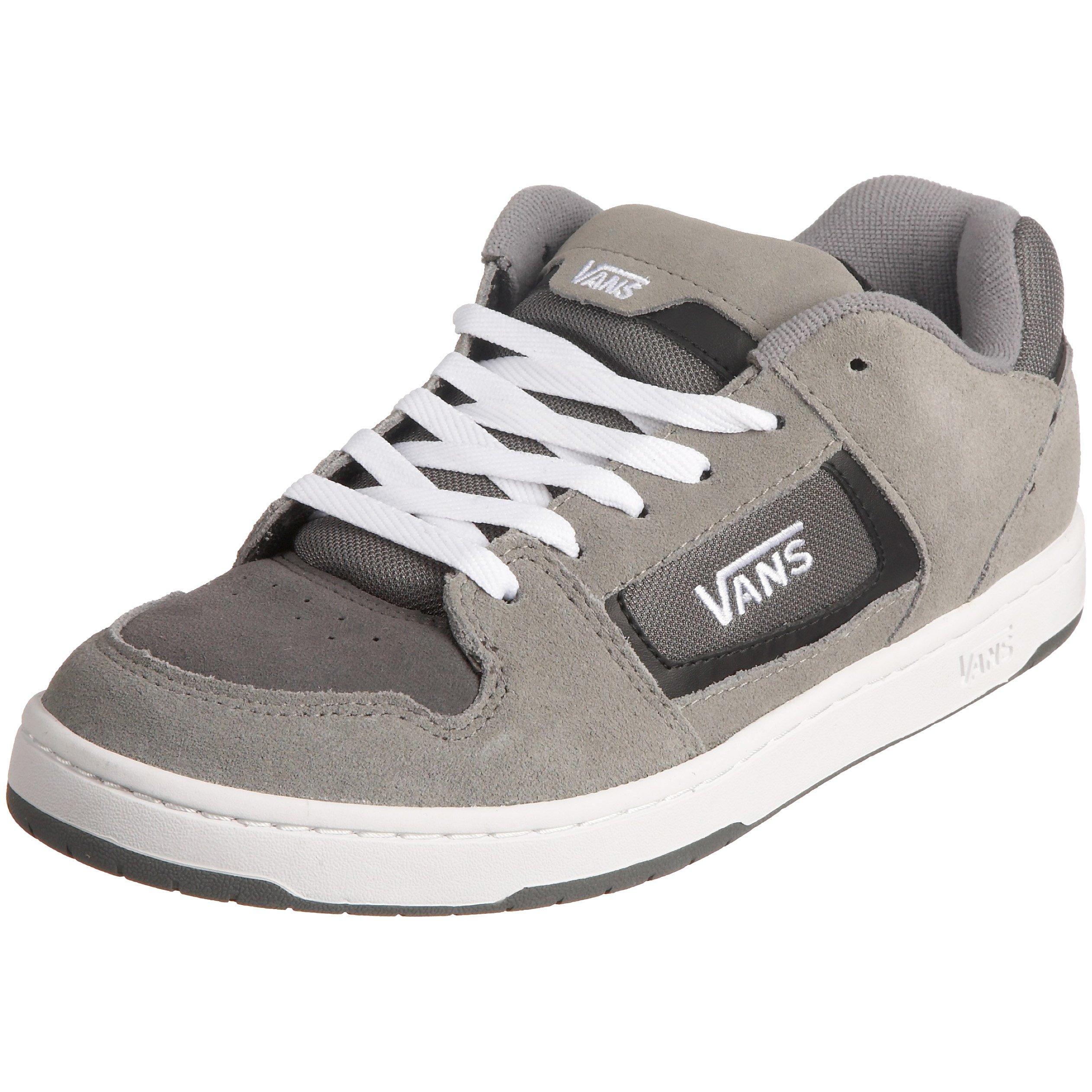88bcbfe887 Galleon - VANS Men Docket Skate Suede Leather Logo Shoes (10.5 Charcoal  White)