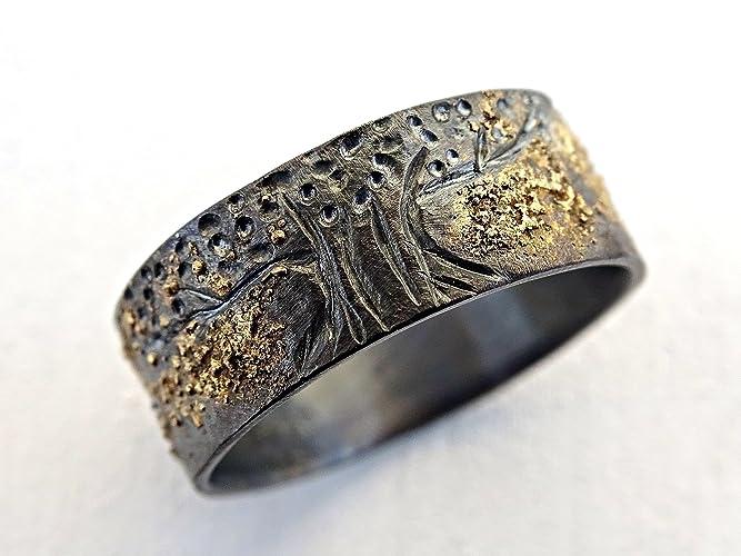 Amazoncom unique viking ring celtic wedding band tree of life