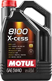 Motul 007250 8100 X-cess 5W-40 Synthetic Gasoline and Diesel Engine Oil - 5 Liter Jug