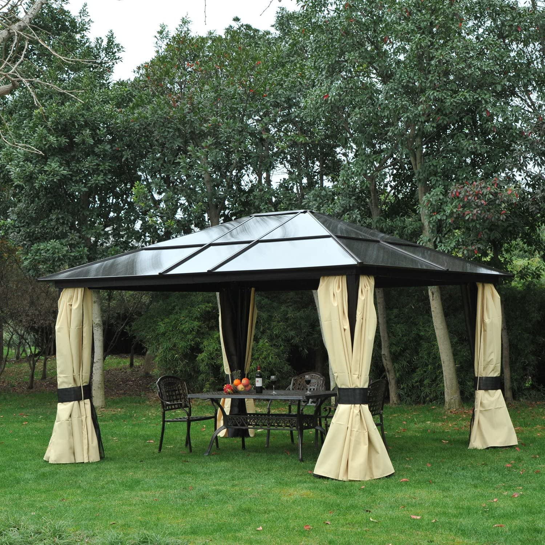 Outsunny® - Carpa elegante para jardín y fiestas, cenador de aluminio y policarbonato, 420 x 360 x 265 cm: Amazon.es: Jardín