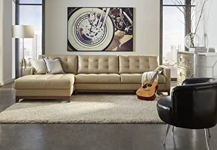 Superieur Lazzaro Leather WH 1527 32 33 A24 Clayton Collection Leather RSF Sofa