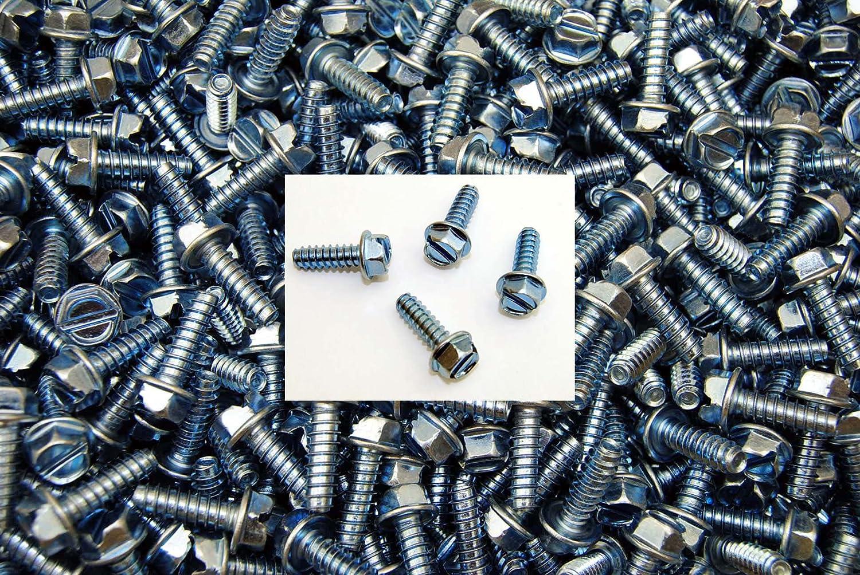 500 Royal Brown 6 x 3//8 Slotted Hex Head Sheet Metal Screws