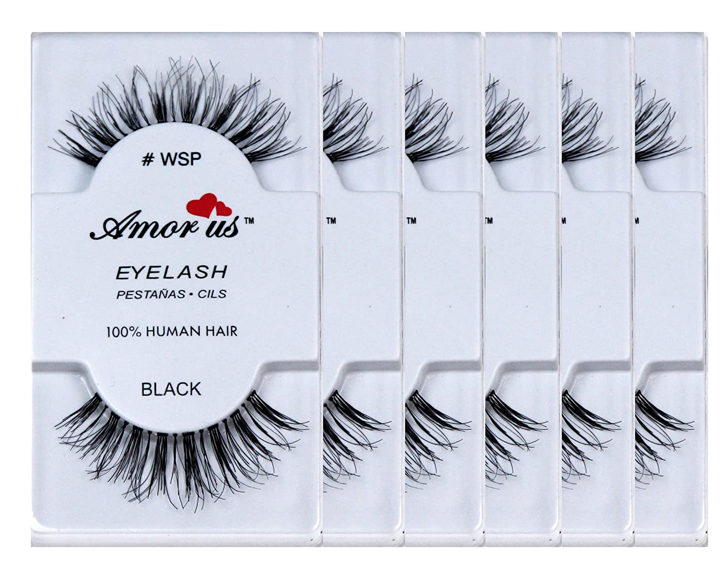 Amazon Amorus 100 Human Hair False Eyelashes Wsp 6 Pack
