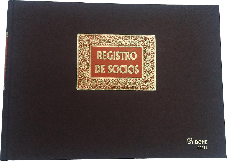 Dohe 9914 - Libro Registro, registro de socios, folio apaisado