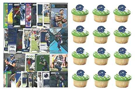 HUGE 72 Piece Football Birthday Party SEATTLE SEAHAWKS Party Favor Set of 12 Seahawks Helmet Rings
