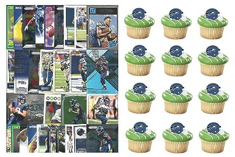 HUGE 72 Piece Football Birthday Party SEATTLE SEAHAWKS Party Favor Set of 12 Seahawks Helmet Rings