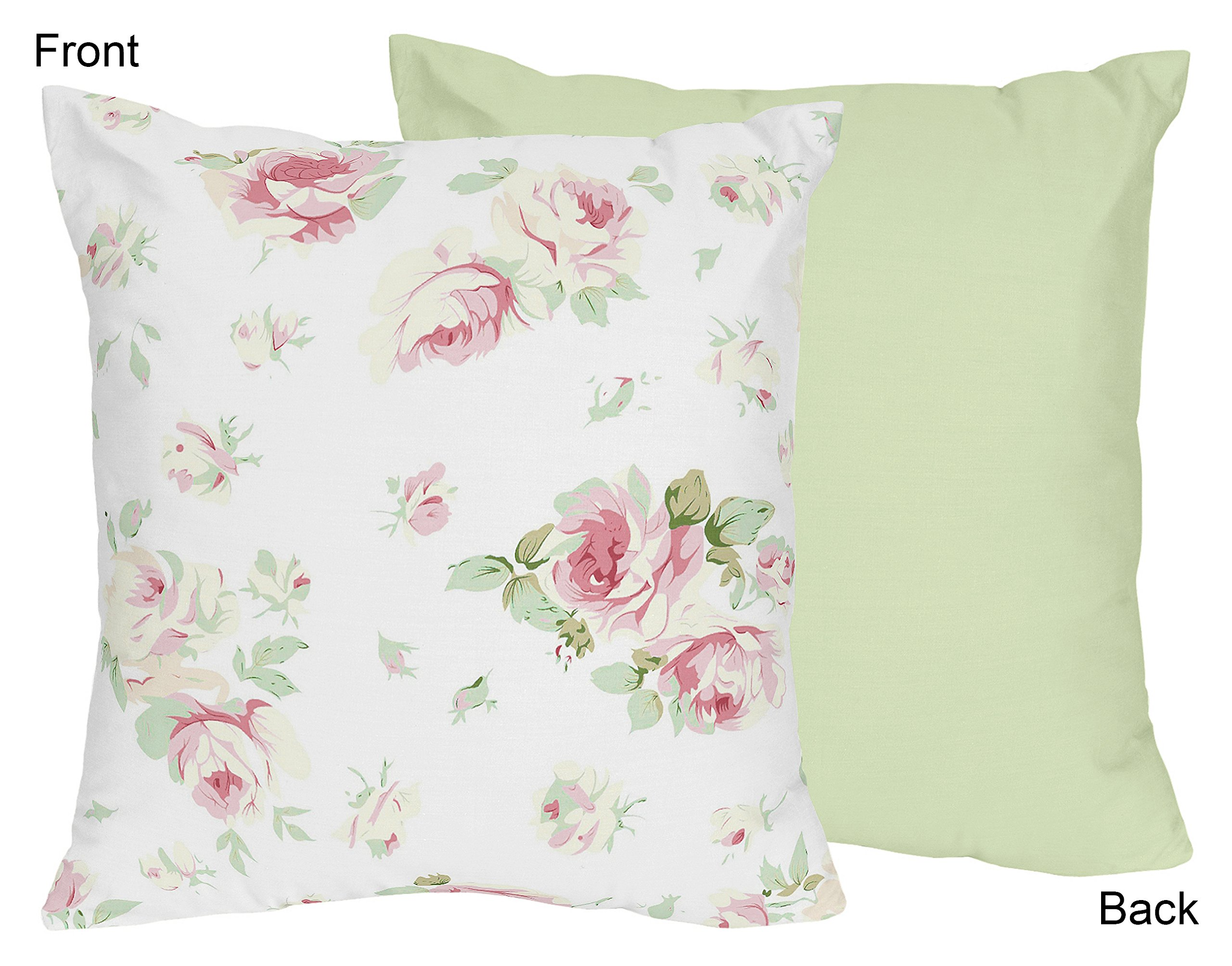 Sweet Jojo Designs Riley's Roses Decorative Accent Throw Pillow
