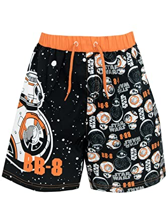a6e3df2ae145c Star Wars Boys BB8 Swim Shorts Ages 5 to 12 Years: Amazon.co.uk: Clothing