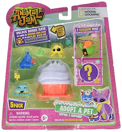 Amazon Com Animal Jam Series 3 Adopt A Pet 5 Pack Style 1 Toys