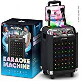 Karaoke Machine for Adults and Kids, Bluetooth Portable Singing PA Speaker System + 2 Wireless Dual Microphones + LED…