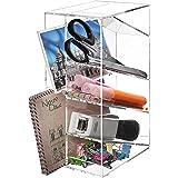 Modern Clear Acrylic Office Desktop Letter Mail Sorter / Pen & Pencil Holder / Home Organizer - MyGift