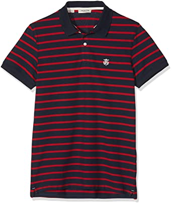 e14a66b55442 SELECTED HOMME Slharo Stripe SS Embroidery Polo W