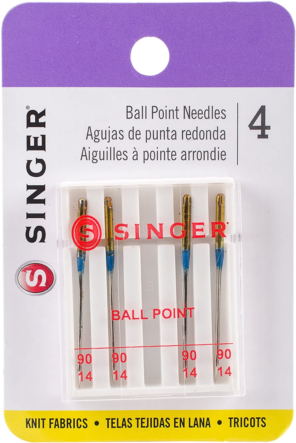 Size 90//14 4-Count SINGER 4820 Universal Ball Point Machine Needles for Knit Fabric