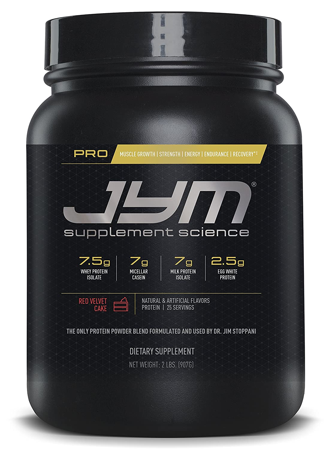 JYM Supplement Science, PRO JYM, An optimal Blend of Whey, Casein, and Egg Proteins, Red Velvet Cake, 2lb Protein