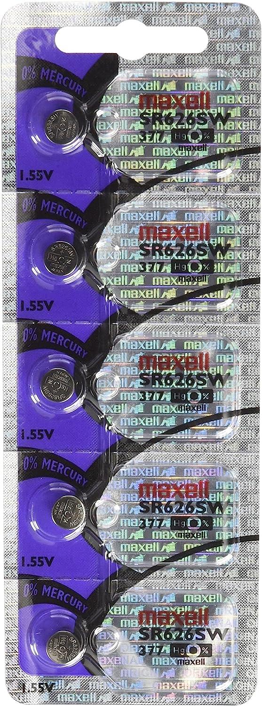 Maxell SR626SW, Pack de 5 pilas de botón