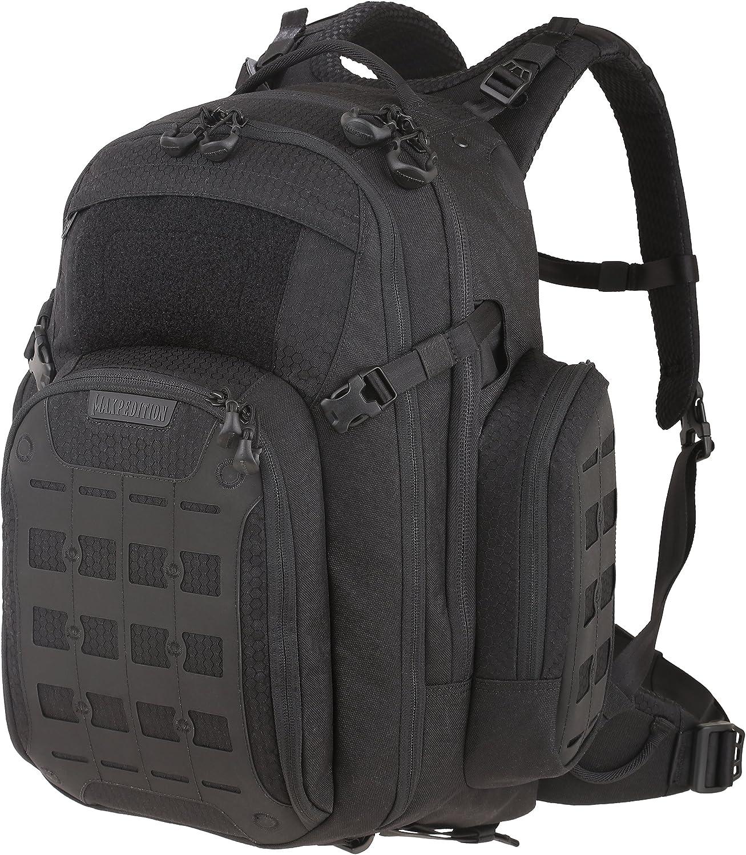 Maxpedition Tiburon Backpack, Black,17x12x20