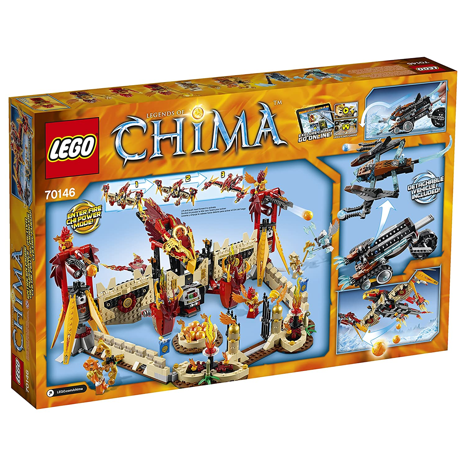 Amazon chima party supplies - Amazon Com Lego Chima 70146 Flying Phoenix Fire Temple Building Toy Discontinued By Manufacturer Toys Games