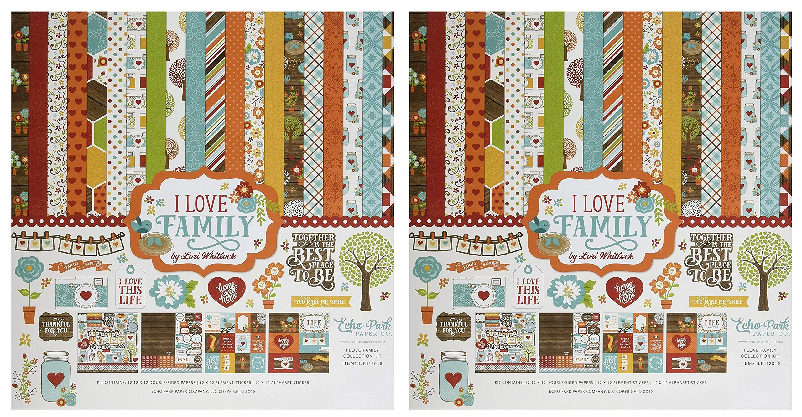 Echo Park Paper Company I Love Family Collection Kit (Тwo Рack)