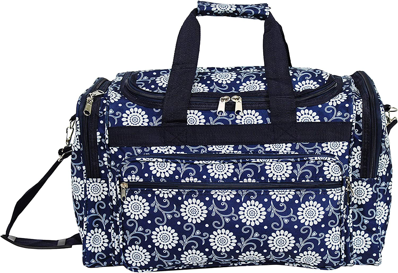 World Traveler World Traveler 21-inch Carry-on Rolling Duffel Bag Multi Patchwork Rolling Duffel