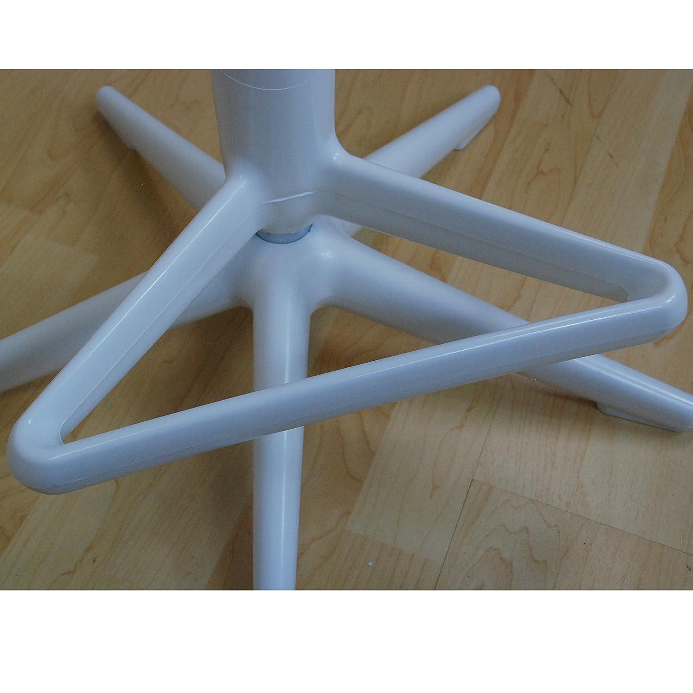 Mod Made Starfish Swivel Barstool Adjustable Height White Set of 2