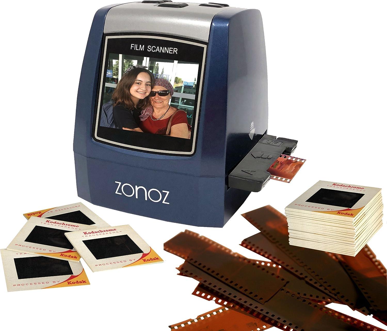 ZONOZ FS-3 22MP All-in-1 Film & Slide Converter Scanner w/Speed-Load Adapters for 35mm, 126, 110 Negative & Slides, Super 8 Films - Includes Worldwide Voltage 110V/240V AC Adapter (Blue)