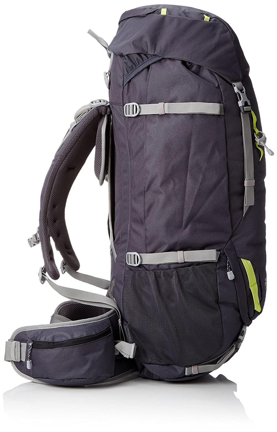 Berghaus Ridgeway 65+10L Outdoor Backpacks Carbon//Bright Lime One Size Pentland Brands Limited Berghaus-FOB GBLIV 4-21583Z50
