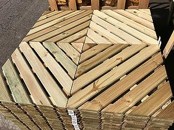 Piastrelle In Legno Da Esterno : Legnagoferr pz pavimento pavimentazione piastrelle di legno