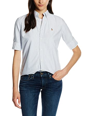 Polo Ralph Lauren SS Jenny Shirt Camisa, Multicolor (BSR Blue ...