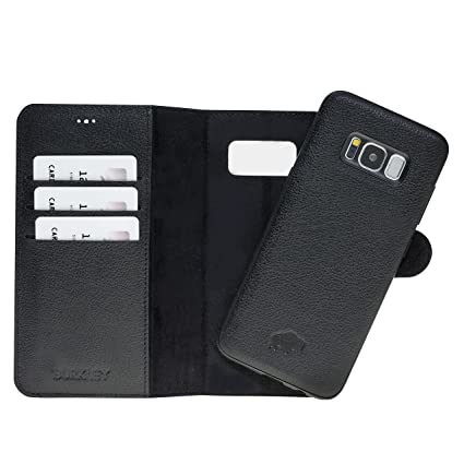 brand new 66556 787a0 Samsung Galaxy S8+ PLUS Leather Case by Burkley, Magnetic Detachable  Leather Wallet Folio Case with Snap-on Cover for Samsung Galaxy S8+ PLUS |  ...