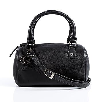 5863f98cfc6ff BACCINI Handtasche CLEO - Henkeltasche klein - Damentasche echt Leder  schwarz