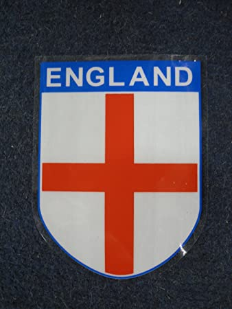 4 x england self cling car window stickers