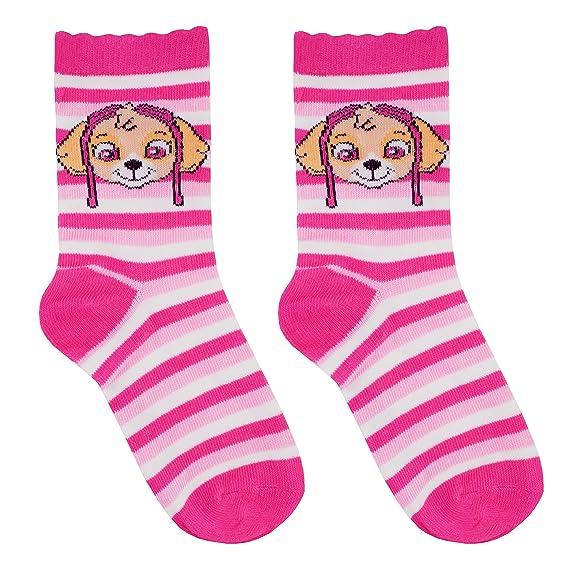Neue Paw Patrol Socken 5er Pack Größe 31//34 Mädchen rosa lila Strümpfe
