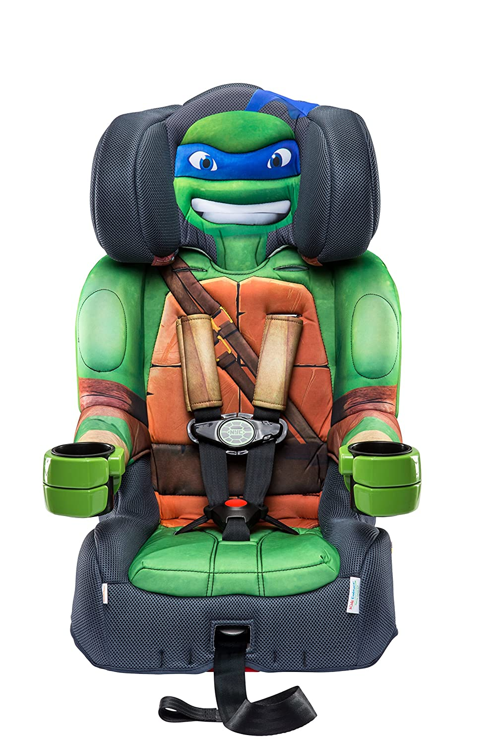 KidsEmbrace Nickelodeon Booster Car Seat, Teenage Mutant Ninja Turtles Leo Combination Seat, 5 Point Harness, Green 65500LEO
