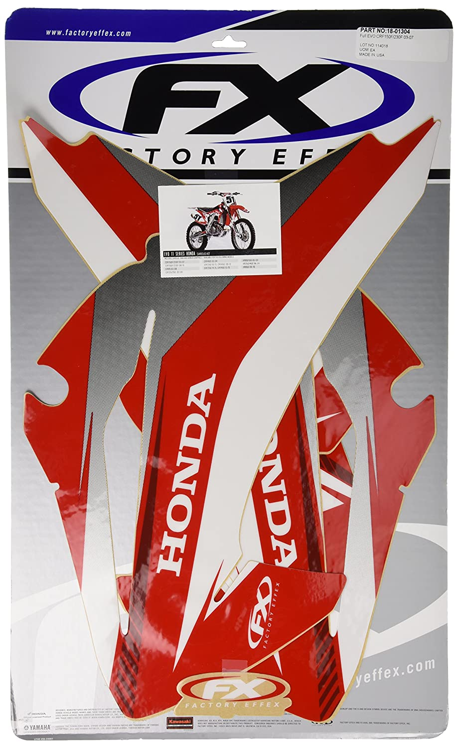 Factory Effex 18-01304 Shroud//Airbox Graphic Kit