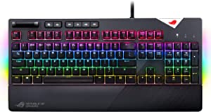 ASUS ROG Strix Flare (Cherry MX Red) Aura Sync RGB Mechanical Gaming Keyboard with Switches, Customizable Badge, USB Pass Through and Media Controls