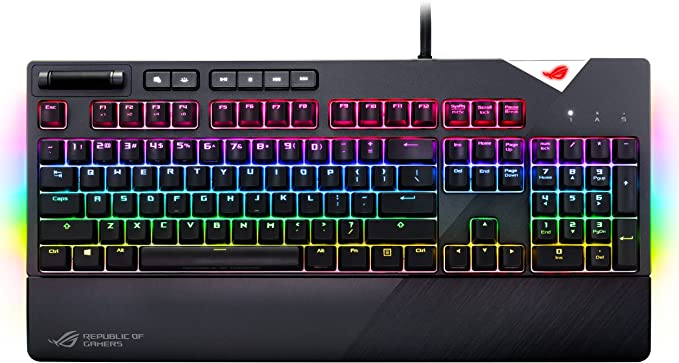 ASUS RGB Mechanical Gaming Keyboard  ROG Strix Flare Cherry MX Speed Silver Switches  cm SS  Aura Sync amp SDK  Gaming Keyboard for PC at Kapruka Online for specialGifts
