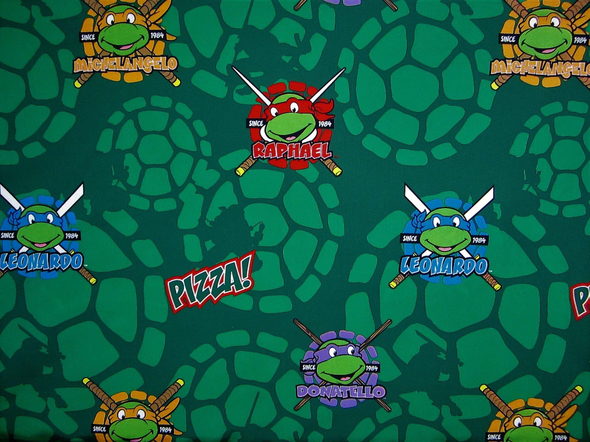 Teenage Mutant Ninja Turtles TMNT (Flat Top Sheet Only) Size TODDLER Boys Girls Kids Bedding
