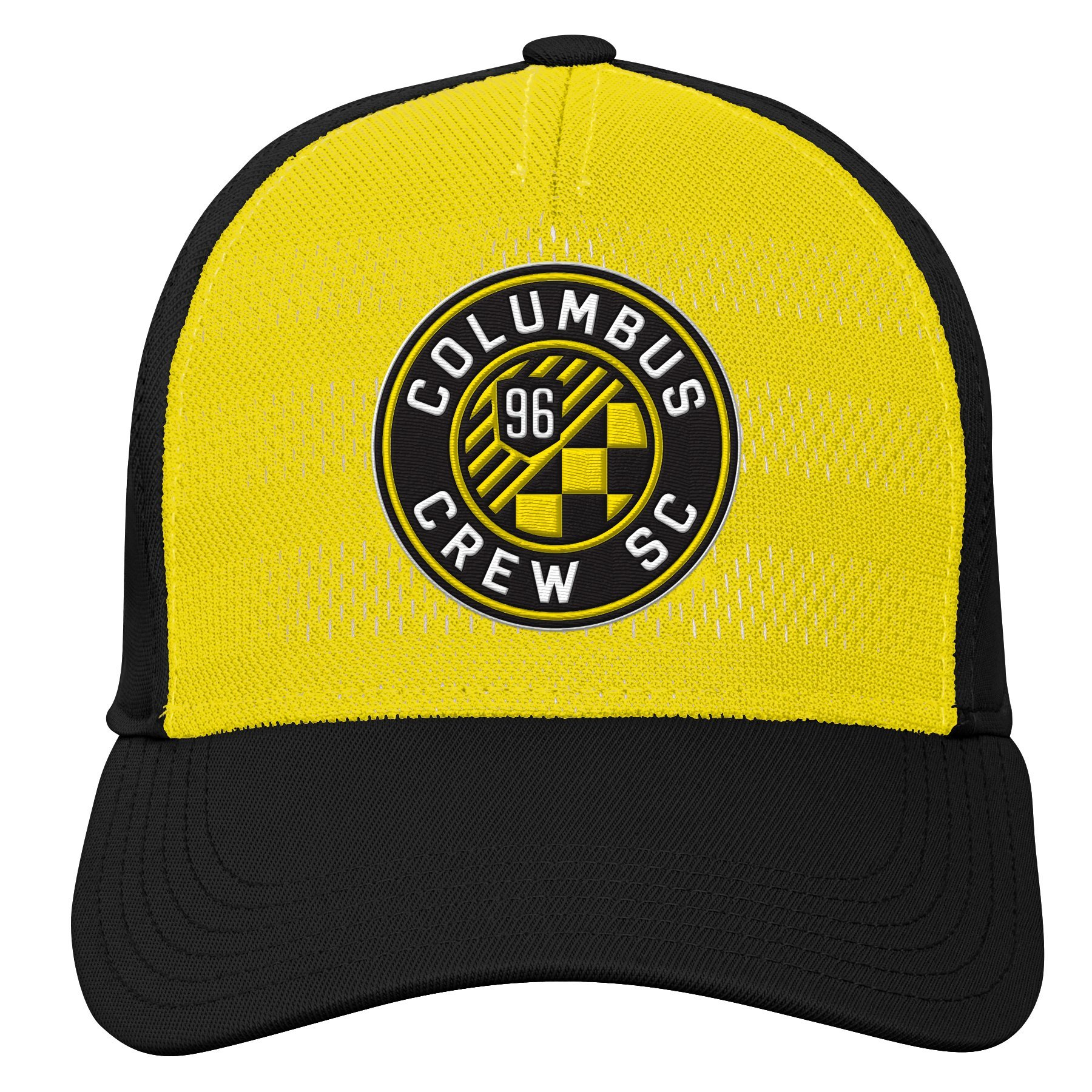 MLS Columbus Crew Youth Boys Authentic Structured Flex, 1 Size, Sun
