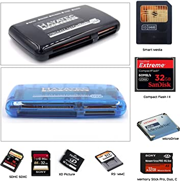 Hayatec all in 1 memory card reader amazon camera photo hayatec all in 1 memory card reader writer smartmedia compact flash memory stick publicscrutiny Image collections
