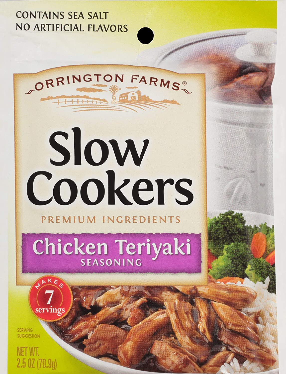 Orrington Farms Chicken Teriyaki Slow Cookers Mix-3 Pouchs-2.5oz each