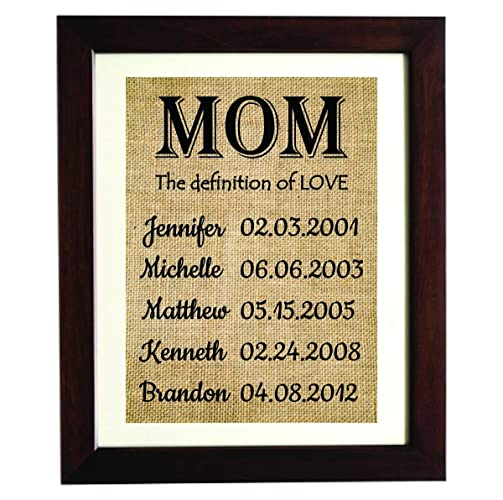 mum christmas gift from kids personalized christmas gift for mom children name burlap gifts